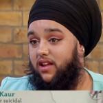 Harta de ser maltratada, se deja barba y le da una lección al mundo